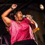 Ms Niccki (Nicole Whitlock)(vocals). Ms Nickki & the Memphis Soul Connection @ 3ème Blues Café Party, Jardin du Millenium, l'Isle-d'Abeau, France, 6.06.2015. (c) Christophe Losberger